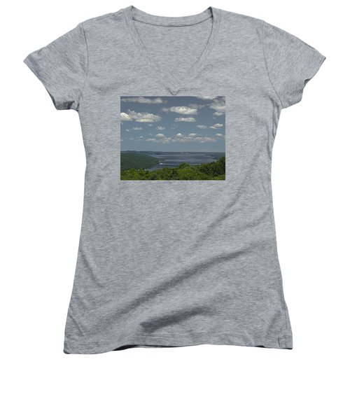 Skaneateles Lake Women's V-Neck T-Shirt