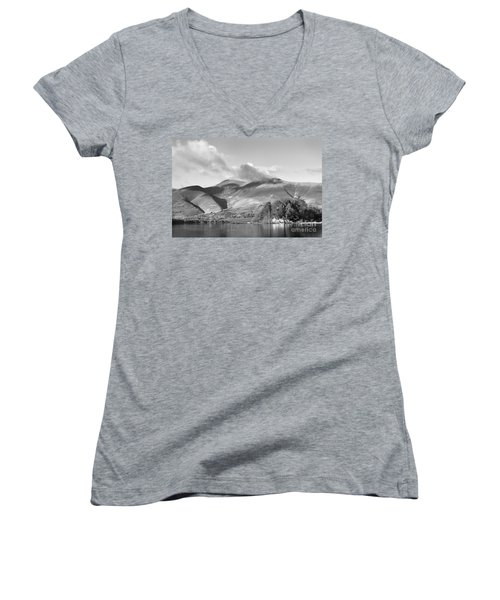 Skiddaw And Friars Crag Mountainscape Women's V-Neck (Athletic Fit)