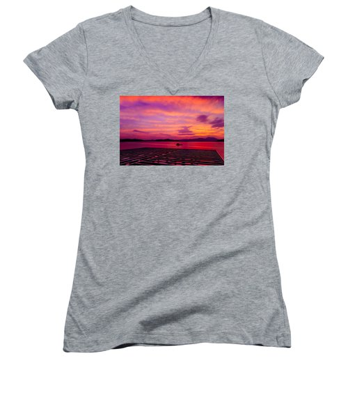 Skies Ablaze - Two Women's V-Neck (Athletic Fit)