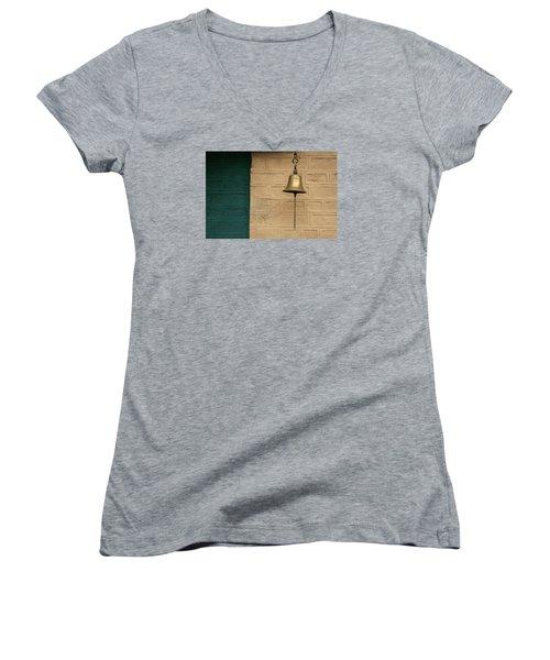 Women's V-Neck T-Shirt (Junior Cut) featuring the photograph Skc 0005 A Doorbell by Sunil Kapadia