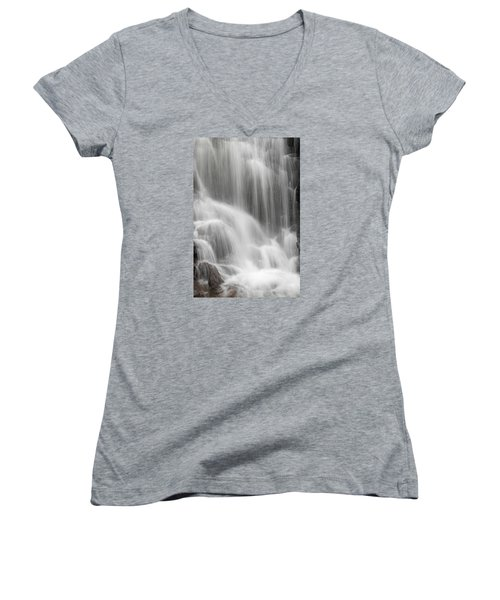 Women's V-Neck T-Shirt (Junior Cut) featuring the photograph Skc 1419 A Smooth Pattern by Sunil Kapadia