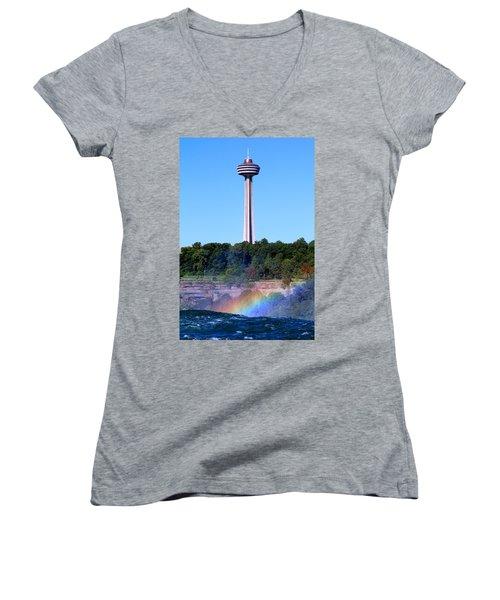 Skylon Tower Niagara Falls Women's V-Neck (Athletic Fit)