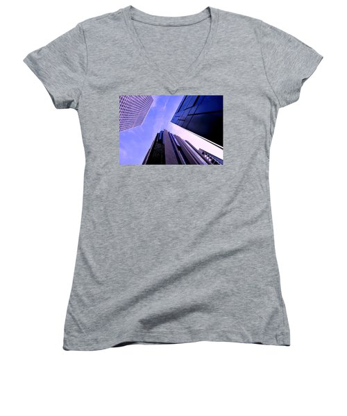 Skyscraper Angles Women's V-Neck (Athletic Fit)