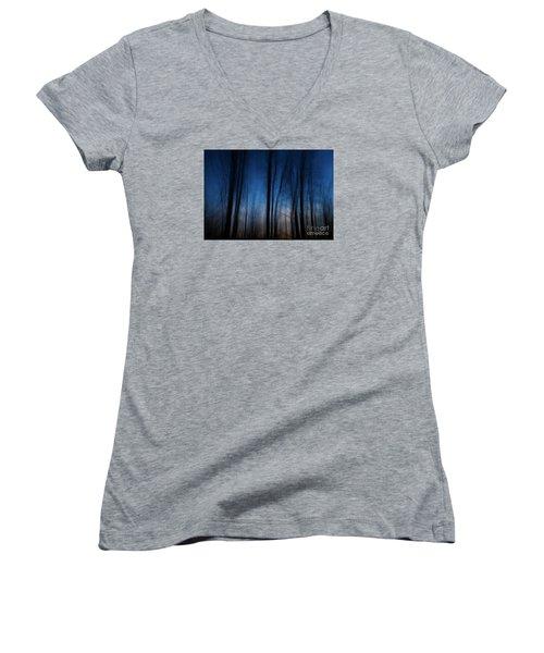 Sleepwalking... Women's V-Neck T-Shirt (Junior Cut) by Nina Stavlund