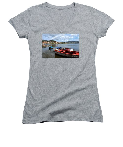 Small Boats In Galicia Women's V-Neck