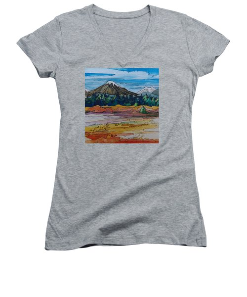 Small Sunriver Scene Women's V-Neck