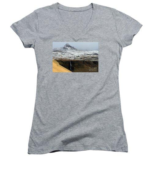 Snaefellsnes Peninsula #1 Women's V-Neck T-Shirt (Junior Cut)