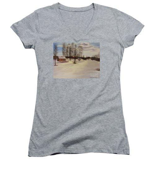 Snow In Solbrinken Women's V-Neck T-Shirt