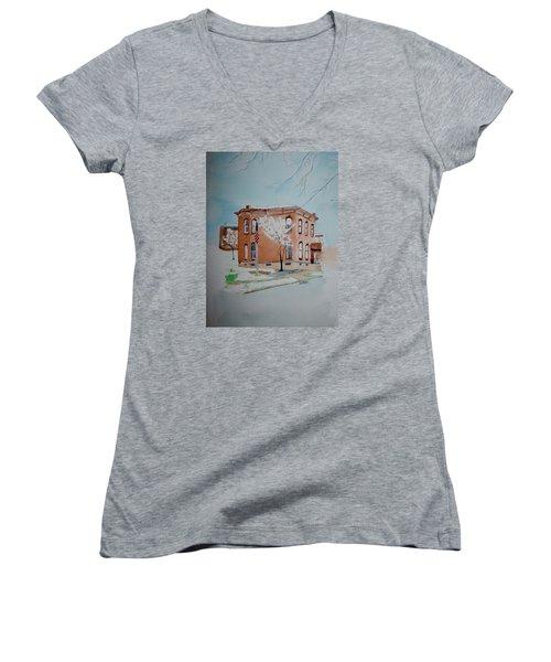 Snow In St. C 2 Women's V-Neck T-Shirt