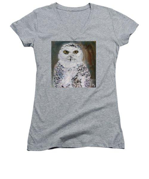 Snow Owl Women's V-Neck