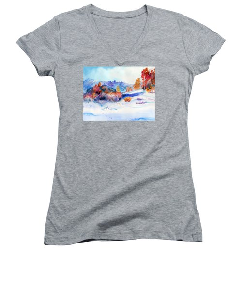 Snowshoe Day Women's V-Neck (Athletic Fit)