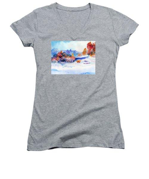 Snowshoe Day Women's V-Neck T-Shirt