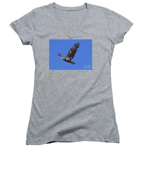 Soar Like An Eagle Women's V-Neck