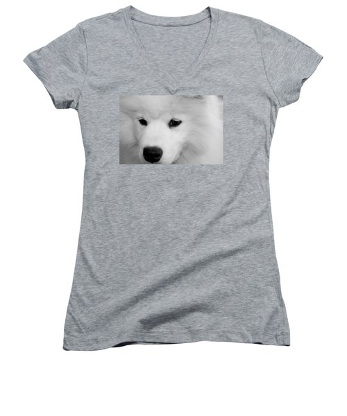 Soft And Overwhelming Beauty.... Women's V-Neck T-Shirt (Junior Cut) by Fiona Kennard