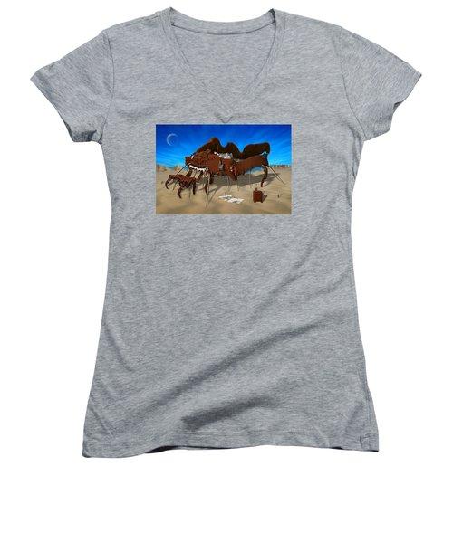 Softe Grand Piano Se Women's V-Neck T-Shirt