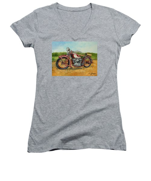 Sokol 1000 - Polish Motorcycle Women's V-Neck (Athletic Fit)