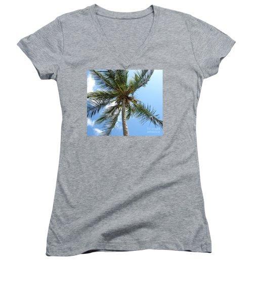 Solitary Palm Women's V-Neck T-Shirt