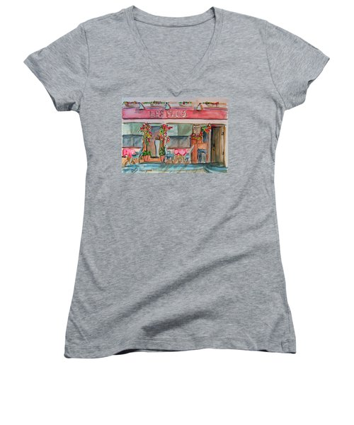 Someplace French Women's V-Neck T-Shirt