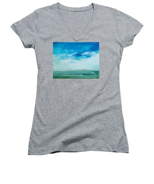 Somewhere Beyond The Sea Women's V-Neck T-Shirt (Junior Cut) by Lee Beuther