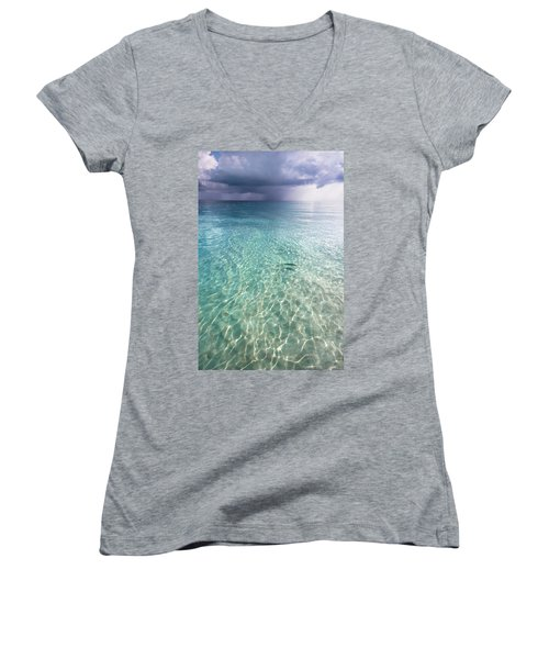 Somewhere Is Rainy. Maldives Women's V-Neck