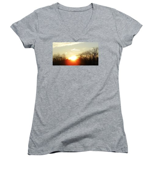 Son Above The Sun Women's V-Neck (Athletic Fit)