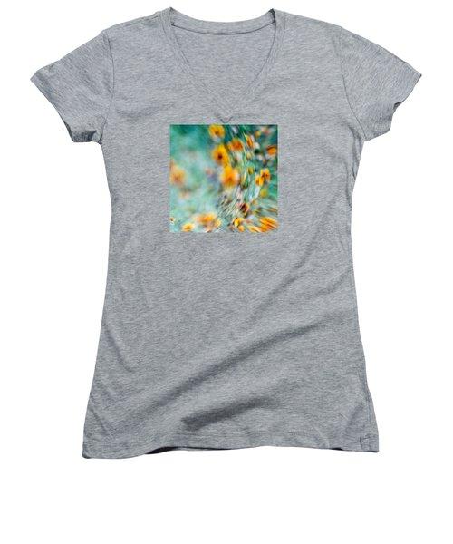 Sonic Women's V-Neck T-Shirt (Junior Cut) by Darryl Dalton