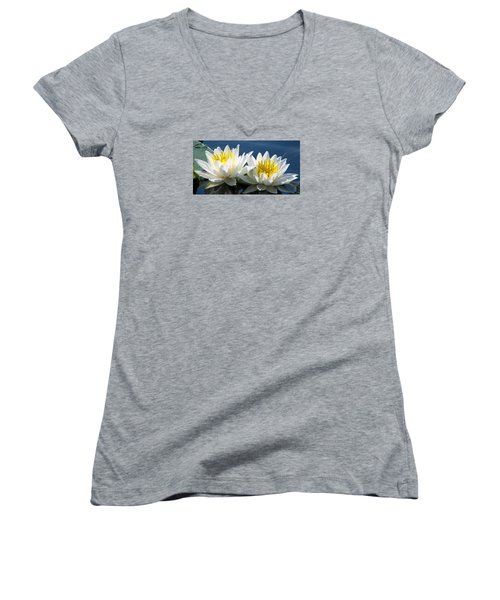 Women's V-Neck T-Shirt (Junior Cut) featuring the photograph Soulmates by Angela Davies