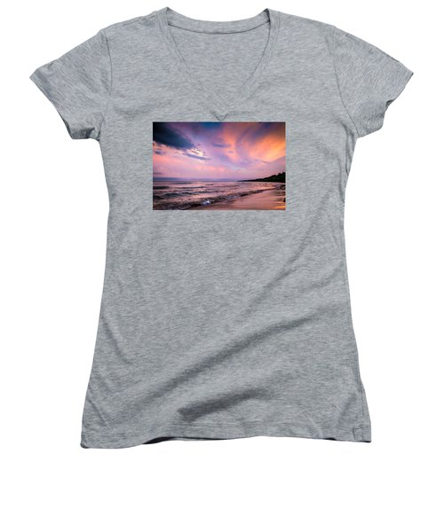 South Beach Clouds Women's V-Neck