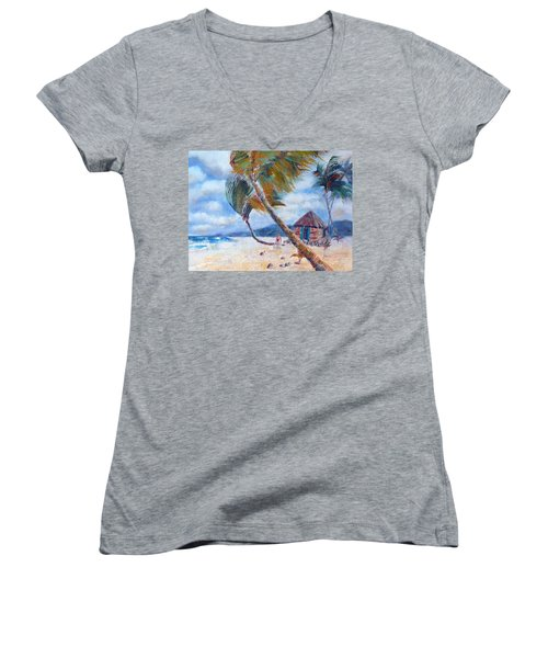 South Pacific Hut Women's V-Neck