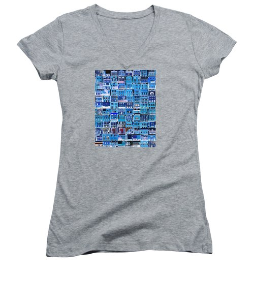 Southside Pittsburgh Women's V-Neck T-Shirt (Junior Cut) by Joe Jake Pratt