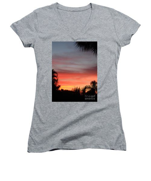 Spectacular Sky View Women's V-Neck (Athletic Fit)
