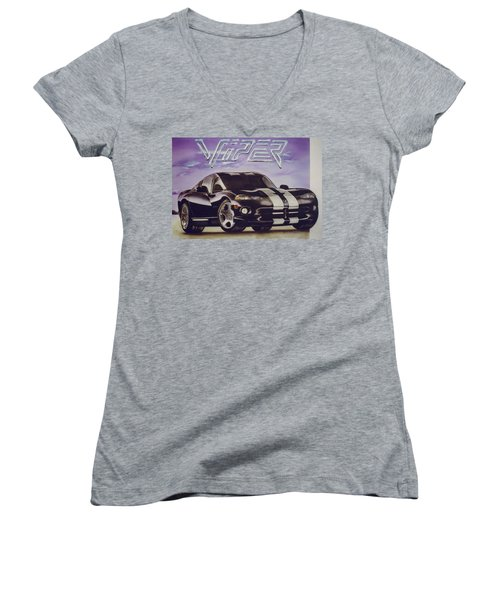 Speed At A Standstill Women's V-Neck (Athletic Fit)