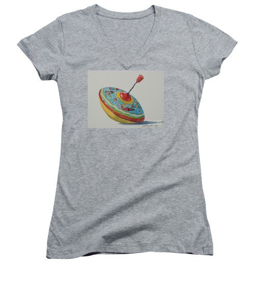 Spinning Girls...sold  Women's V-Neck (Athletic Fit)