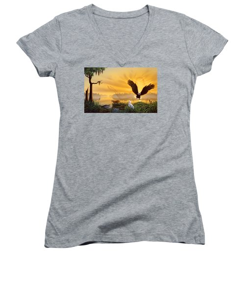 Spirit Of The Everglades Women's V-Neck (Athletic Fit)