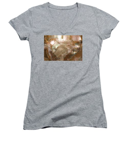 Women's V-Neck T-Shirt (Junior Cut) featuring the photograph Spirit Of The Soul by Sherri  Of Palm Springs