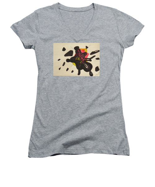 Splash Went The City Women's V-Neck T-Shirt