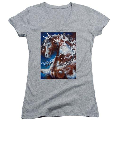 Splish Splashed My Paint Women's V-Neck T-Shirt