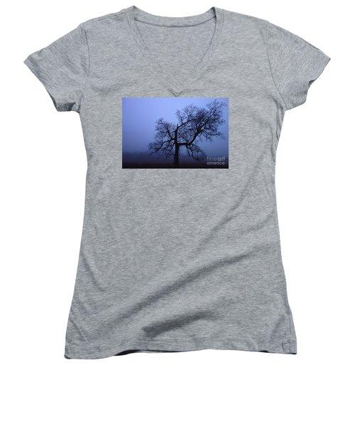 Spooky Tree Women's V-Neck