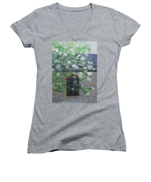 Spring At Grace Church Women's V-Neck T-Shirt