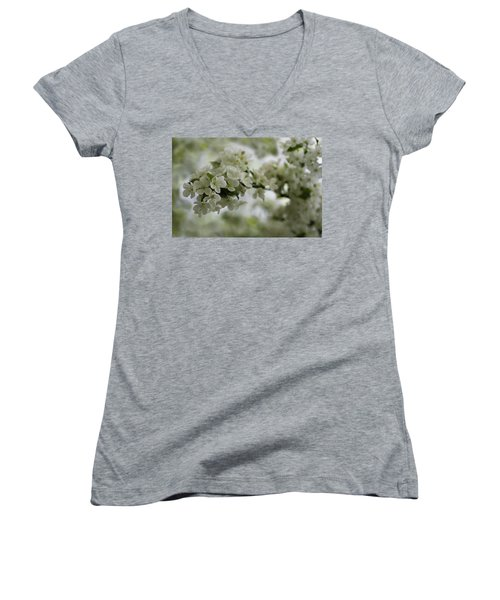 Women's V-Neck T-Shirt featuring the photograph Spring Bloosom by Sebastian Musial