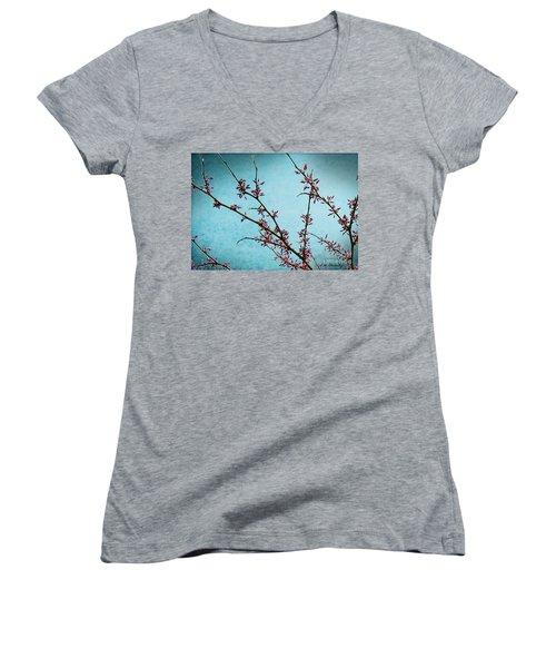 Spring Buds Women's V-Neck