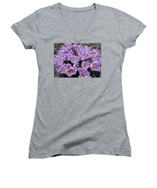 Spring Faces Women's V-Neck T-Shirt (Junior Cut)