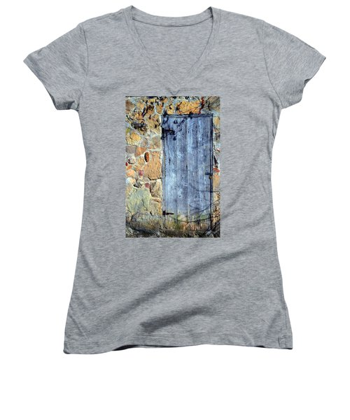 Women's V-Neck T-Shirt (Junior Cut) featuring the photograph Spring House by Deena Stoddard