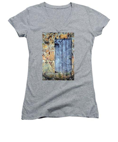 Spring House Women's V-Neck T-Shirt (Junior Cut) by Deena Stoddard