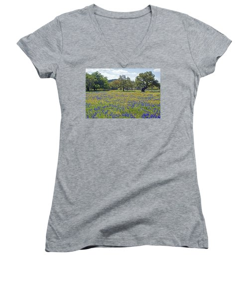 Spring In The Texas Hill Country Women's V-Neck T-Shirt