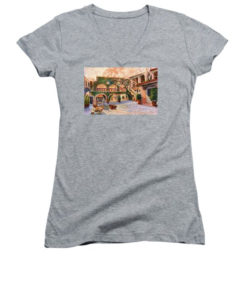 Spring In Tlaquepaque Women's V-Neck T-Shirt (Junior Cut) by Marilyn Smith