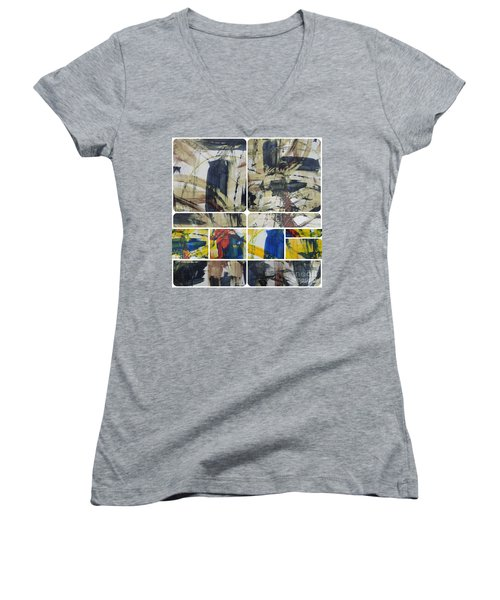 Women's V-Neck T-Shirt (Junior Cut) featuring the photograph Spring Part Two by Sir Josef - Social Critic - ART