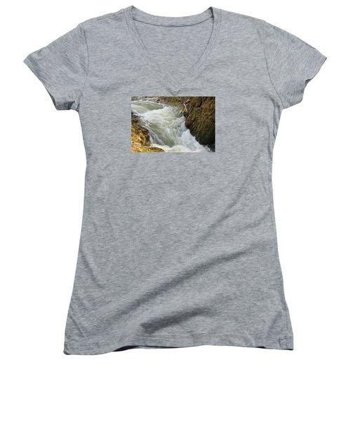 Women's V-Neck T-Shirt (Junior Cut) featuring the photograph Spring Rush by Julie Andel