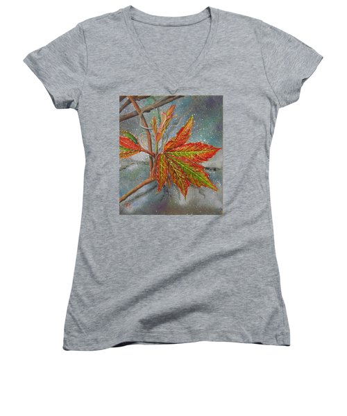 Spring Virginia Creeper Women's V-Neck