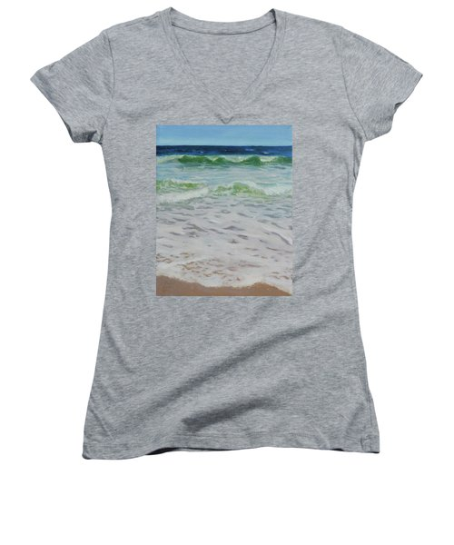 Spring Wave Women's V-Neck T-Shirt (Junior Cut)